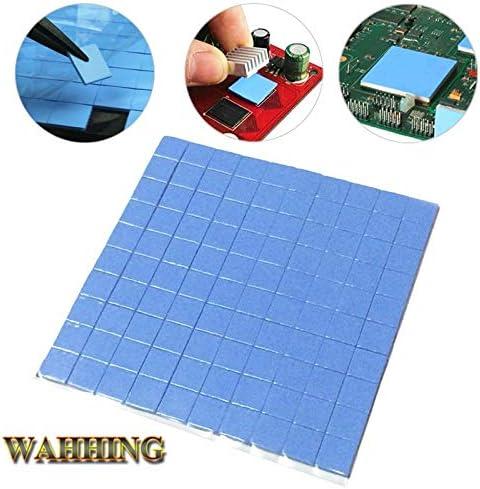 Rarido 100pcs 10mm10mm1mm Thermal Pad GPU CPU Heatsink Cooling Conductive Silicone Pad Blue HY1568 Blade Color: Type A