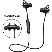 Écouteurs Bluetooth V4.1 Oreillette Bluetooth stéréo Hi-Fi Avec Microphone HD Magnétique Ecouteur Sans Fil Antibruit Oreille Temps de lecture 6-8 heures pour iPhone Xiaomi Huawei Samsung Sony etc