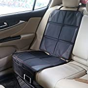 Child Car Seat Protector, EleFox Premium Black Full Size Seat Protector For Under Car Seat, Kids, Pets, Dogs
