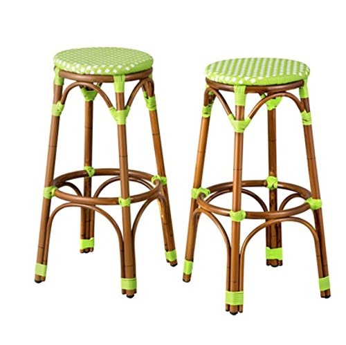 """Resin Wicker Round Bar Stools - 30"""" Tall - SET OF 2 - By ..."""