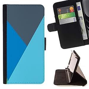 Líneas Baby Blue Gray Mountain- Modelo colorido cuero de la carpeta del tirón del caso cubierta piel Holster Funda protecció Para Apple (5.5 inches!!!) iPhone 6+ Plus / 6S+ Plus