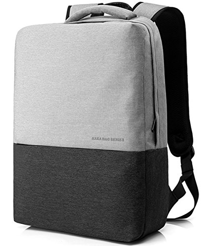 Cheap VEVESMUNDO 15.6 inch Laptop Computer Notebook College School Travel Backpack Lightweight Waterproof for Dell HP Lenovo Macbook Acer Alienware for Men Women  (Light Gray)