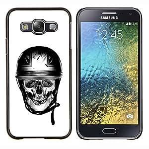"""Be-Star Único Patrón Plástico Duro Fundas Cover Cubre Hard Case Cover Para Samsung Galaxy E5 / SM-E500 ( Motorista de la motocicleta Casco Bretaña"""" )"""