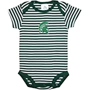 Michigan State University Spartans Striped Newborn Baby Bodysuit