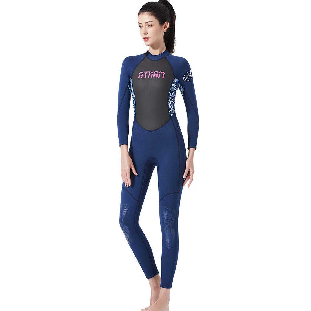 LUXISDE Women's Keep Warm Sunscreen Swimming,Surfing and Snorkeling Diving Coverall Suit Blue by LUXISDE (Image #4)