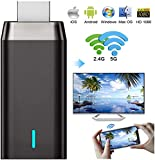 Wireless Display Adapter Dongle, 5G/2.4G HDMI Display Adapter Receiver, 4K& Dual Band&1080P Wireless WiFi Adapter…