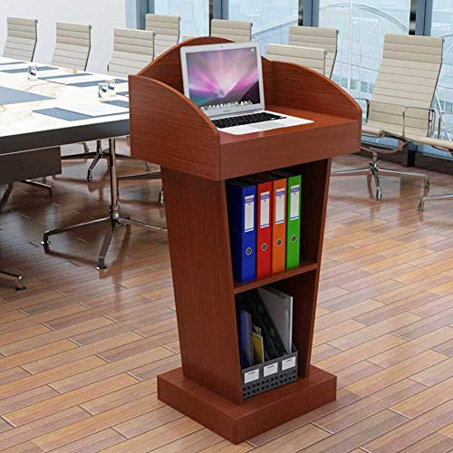 Impromptu Lectern - SQINAA Stand up Lectern,Impromptu Podium Workstation Laptop Notebook Computer Stand for School The Company Meeting Room-D 60x40x103cm(24x16x41)
