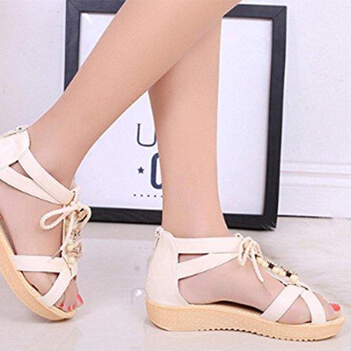 Sandals Indoor Girls Outdoor Bow AMA Shoes TM Sweet Beach Blue Women Flat x67xfFCq
