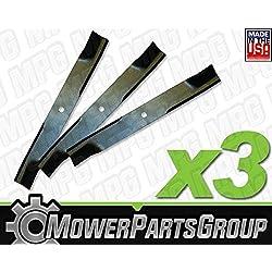 """D618 (3) Mulching Blades John Deere 54"""" deck"""