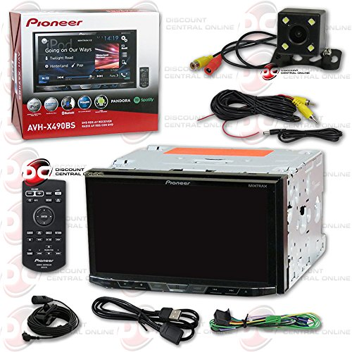New Pioneer AVH-X490BS 7'' 2DIN Touchscreen Car DVD CD receiver Bluetooth & Pandora with DCO Back-up Camera Night Vision and 170 Degrees Wide Angle View by Pioneer DCO (Image #1)