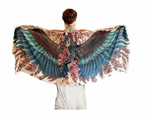 DueWork Large Rectangle Angel Wings Indian Mandala Ethnic Hippie Beach Towel Yoga Mat Tapestries Blanket Swimwear Cover Up