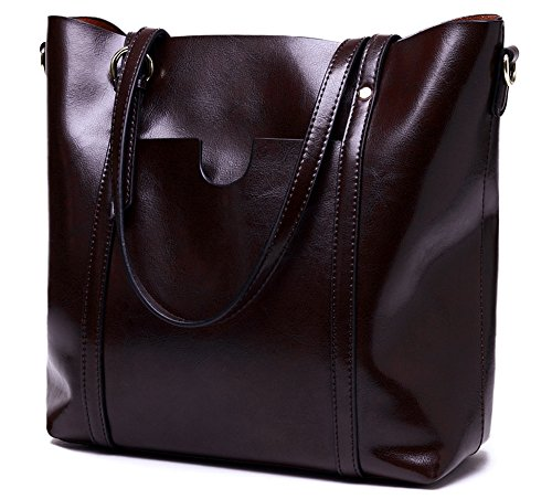 Purse Handle Satchel Stylish Molodo Handbag Shoulder Tote Coffee Hobo Top Genuine Leather Womens gUC1wqPB