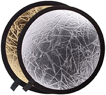 Godox 24 60cm 2-in-1 Light Mulit Collapsible Gold and Silver Reflector Disc Photo Round-2in1-60