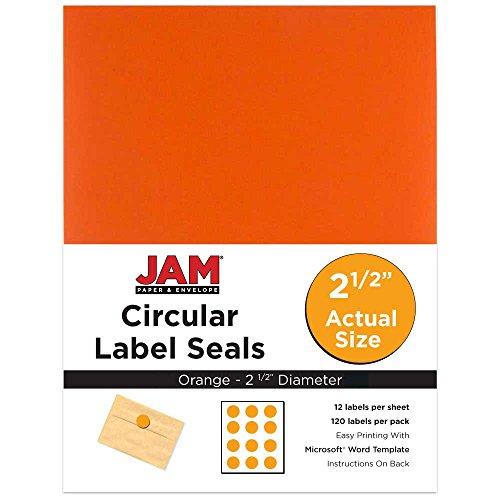 JAM Paper Round Circle Label Sticker Seals - 2 1/2