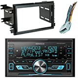 Kenwood DPX303MBT Digital Media Double-DIN Mechless Bluetooth USB AUX AM/FM Car Audio Receiver, Scosche FD1426B Dash Kit Install Kit, w/FD23B Radio Wire Harness (2004-Up Select Ford)