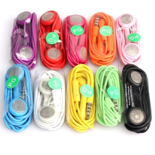 Sfusa-Wholesale-Lots-10-Earphone-Headphone-with-Mic-for-Iphone-3g-4g-4s-3gs-3g-Mp31-Each-Color-10-Packs