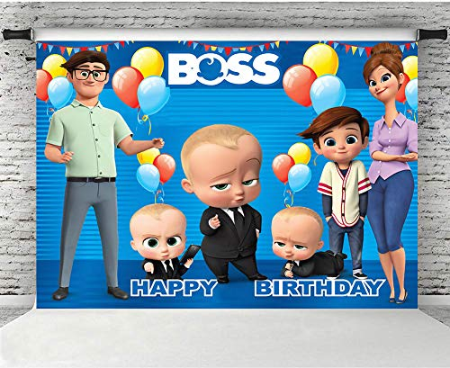 Photo Backdrop 5x7 Seamless Vinyl Photo Background Paper Boss Baby Theme Blue Backgrounds for Baby Shower Custom Boys Birthday - Custom Shower Banner Baby