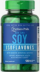 Soy is a rich, plant-based source of phytoestrogens, which are naturally occurring compounds that help with hot flashes in menopausal women.Made from non-GMO certified soybeans, soy isoflavones provide holistic supplementation for a womans midlife ye...