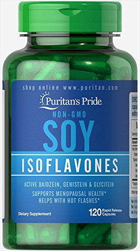 Isoflavones Menopause Soy - Puritans Pride Non-GMO Soy Isoflavones 750 Mg Rapid Release Capsules