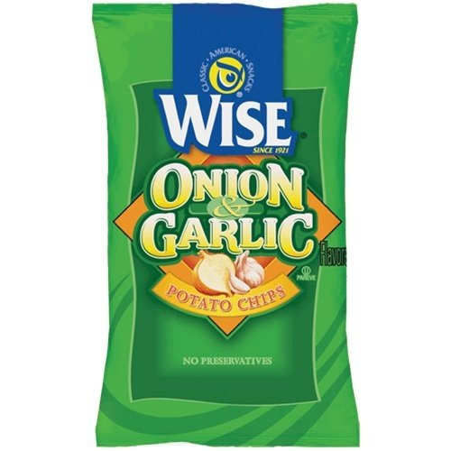 Wise Onion and Garlic Potato Chips, 1.25-Oz Bags (Pack of 36)