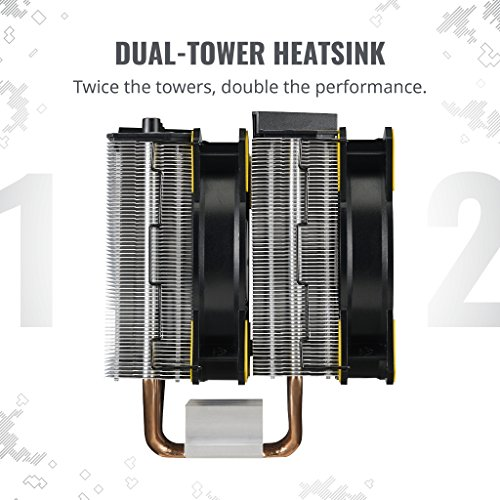Cooler Master MasterAir MA620P TUF Edition Dual-Tower RGB CPU Air Cooler 6 Heat pipes Dual Master Fan MF120R 120mm RGB Fans (MAP-D6PN-AFNPC-R1) by Cooler Master (Image #3)