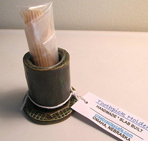 Toothpick Holder Handmade Slab Built Pottery (Slab Built Pottery)