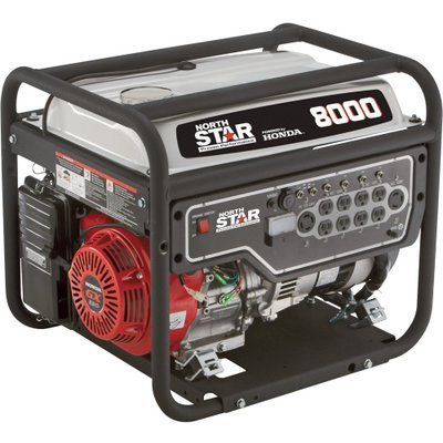 NorthStar Portable Generator - 8,000 Surge Watts, 6,600 Rated Watts, EPA and CARB-Compliant