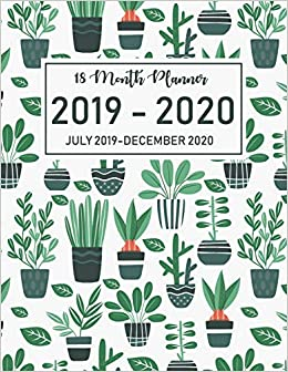 18 Month Planner July 2019-December 2020: Academic Agenda ...