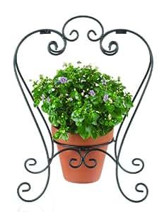 Ganz Garden Decor, Plant Stand, Iron, 13-Inch Wide by 875-Inch Diameter by 17-Inch High