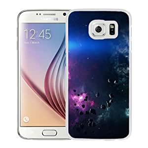 NEW Unique Custom Designed Samsung Galaxy S6 Phone Case With Space Asteroids Belt Purple_White Phone Case
