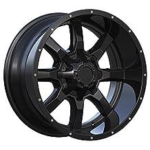 "Series 479 Matte Black 8 Spoke Alloy Wheel 17x8 5-127 (5-5"") (+15mm Offset) (87.10mm Centre Bore)"