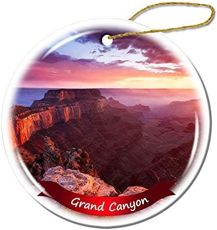 Wini2342ckey Christmas Decoration,Grand Canyon Christmas Ornament Porcelain Double-Sided Ceramic Ornament,3 Inches