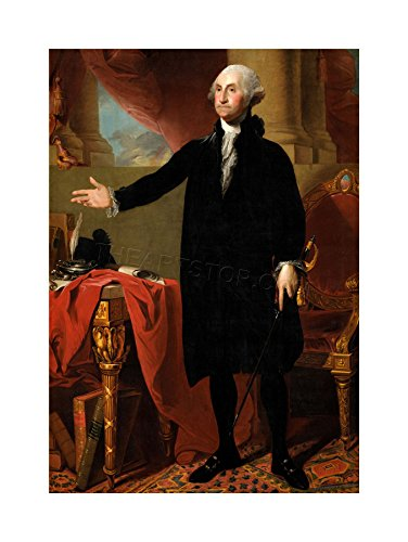 The Art Stop Painting Portrait Stuart President George Washington Print ()