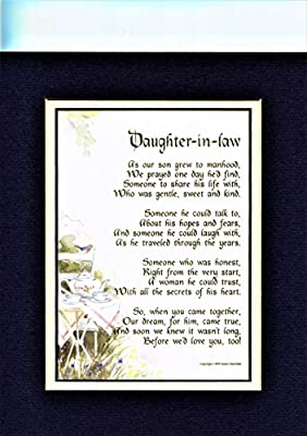 Amazon A Mothers Day Gift Poem Present For A Daughter In Law