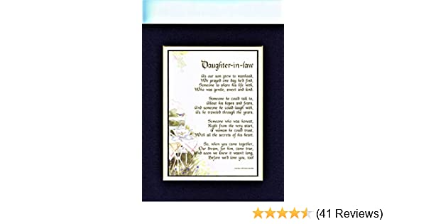 Amazon A Mothers Day Gift Poem Present For Daughter In Law 30th 40th 50th Birthday More Color Options 227 Paintings
