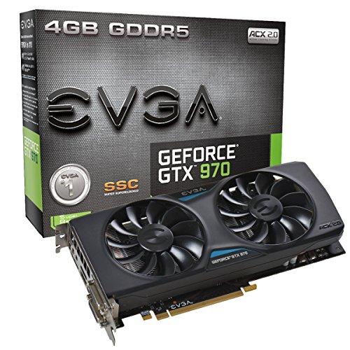 EVGA  GeForce GTX 970 SSC ACX 2.0 4GB Graphics Cards 04G-P4-2975-KR