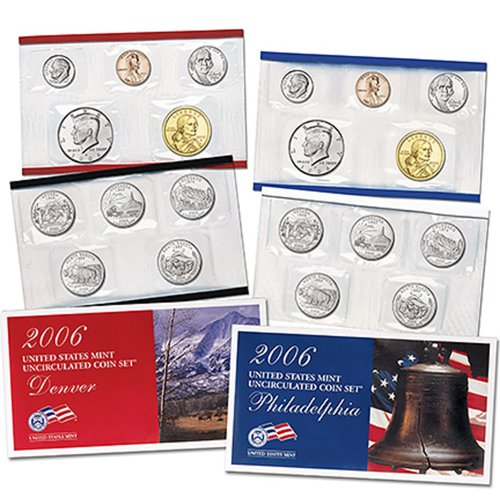 United States Mint Mints Coin - 2006 United States Mint Uncirculated Coin Set (U06) in Original Government Packaging