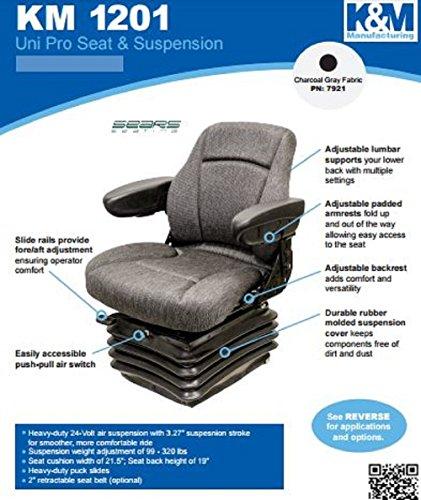 KM 1201 Uni Pro Seat and Suspension Seat Motor Graders, Tool Carriers, Log Skidders John Deere