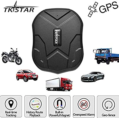 TKSTAR Hidden Vehicles GPS Tracker, Waterproof Real Time Vehicle GPS Tracker Anti Theft Alarm Car Tracking Device Strong Magnet For Motorcycle Trucks ...