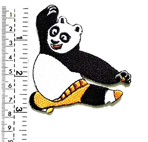 Kung Children Fu Patch Iron Sign T Gilet Cartoon Badge Tattoo Jacket Embroidered Panda giacca Sew Japan On Motorcycle Kids Biker Rider shirt dYIq55