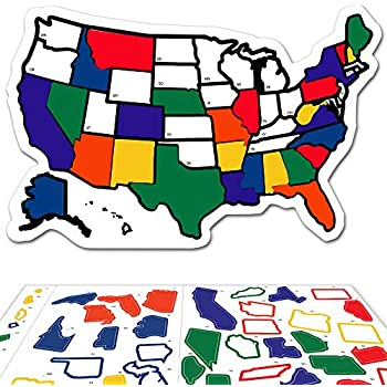 11 x 17 USA States Visited Decal United States License Plate ...