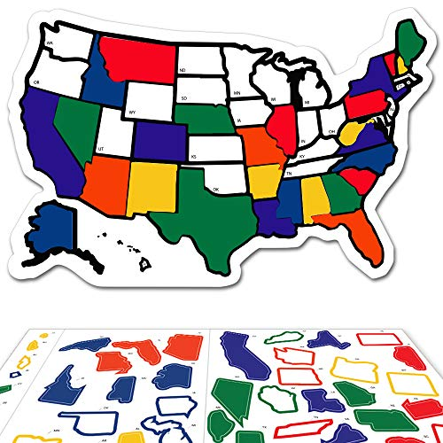 - RV State Sticker Travel Map - 13