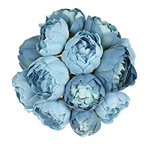 TINGOR 2 Pack Artificial Peony Flowers, Fake Flower Bouquet for Wedding, Bride, Bridesmaid Home Table Decoration 72