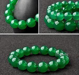 Transparent Natural Crystal Bracelet Green Agate Jewelry Beaded Bracelet