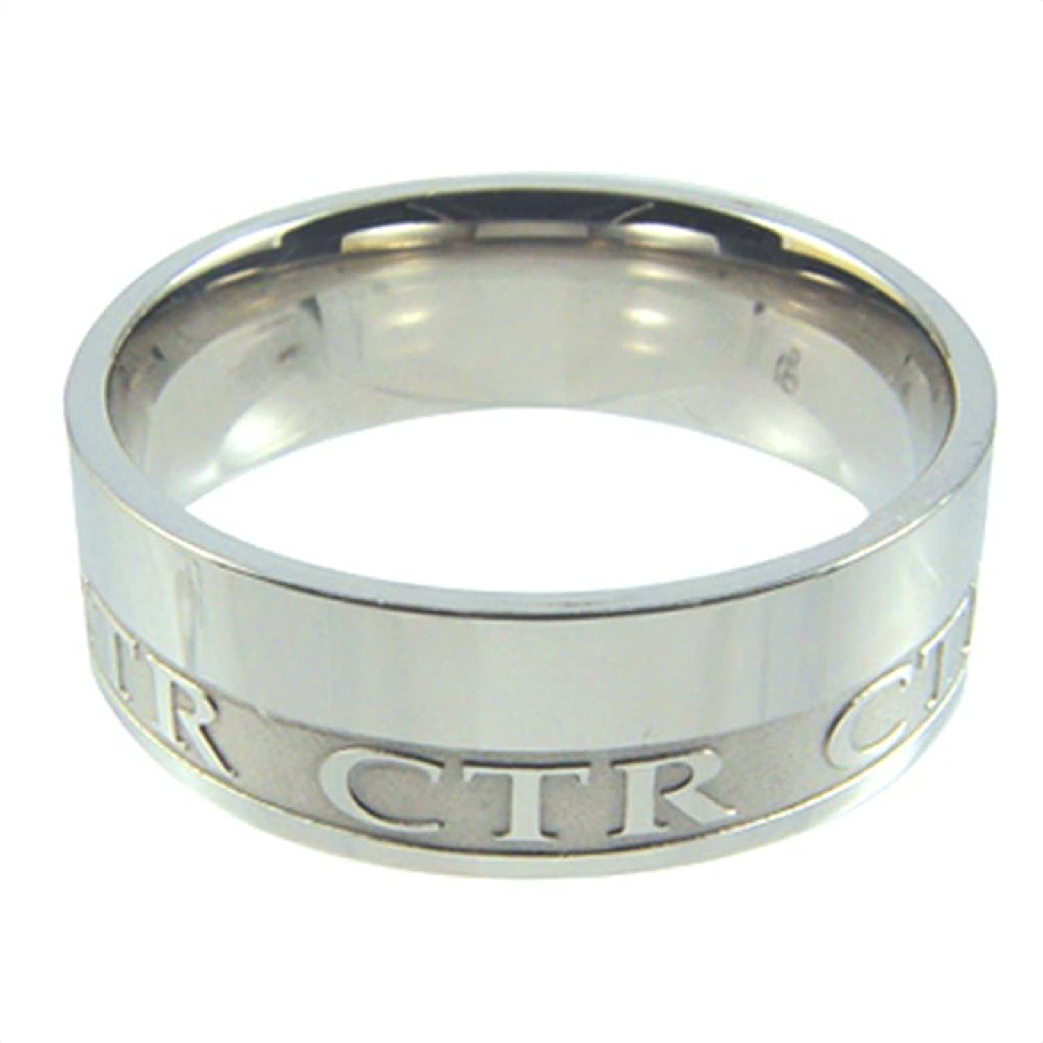 LDS Mens Stainless Steel Intrigue CTR Choose the Right Ring for Boys - LDS Rings, Mens CTR Ring, Boys CTR Ring