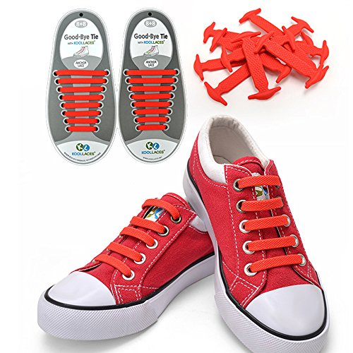 UPC 700355025078, Homeout 1 Set(16pcs) No Tie Silicon Shoelaces - Colorful (Red, 16pcs/Adults)