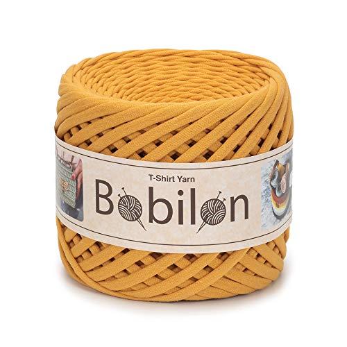 (T-Shirt Yarn Fettuccini Zpagetti Style - Tshirt Yarn for Crocheting - Ribbon Yarn 100% Cotton - Knitting Yarn Ball - T Yarn Organic - Macrame T-Yarn - Thick Fabric Yarn - Jersey Yarn Mustard)