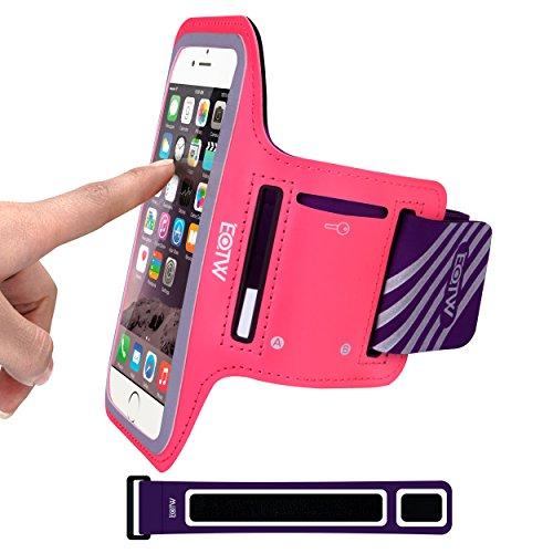 EOTW Sportarmband Handyhülle universell passend für iPhone 5/5s/SE, Ideal für Sport, Freizeit aber auch in der Arbeit praktisch zu verwenden (4,0 Zoll, Pink)