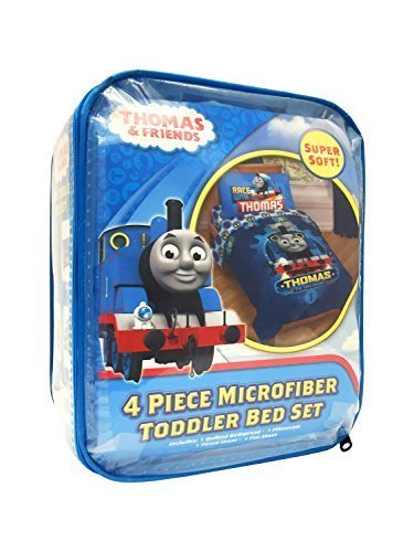HIT Thomas The Tank Engine Race Friends Microfiber Toddler Bed Set by Jay Franco