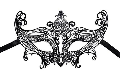AshopZ Venetian Eye Mask Fancy Dress Accessory w/ Feather Flower Lace